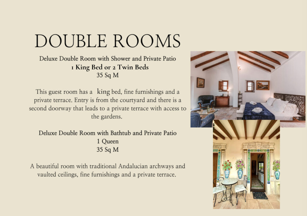 Guest rooms at La Esperanza Granada