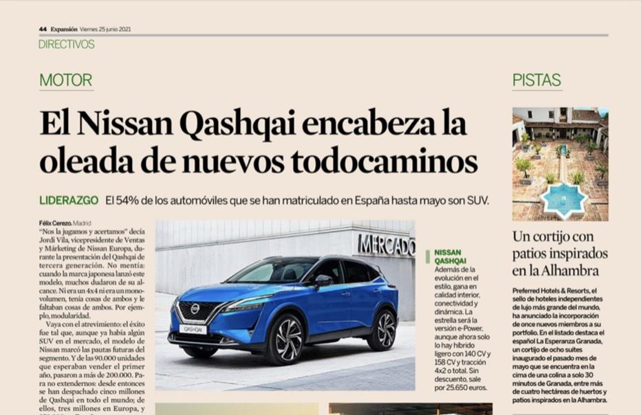 La Esperanza Granada in Expansion Newspaper of Spain