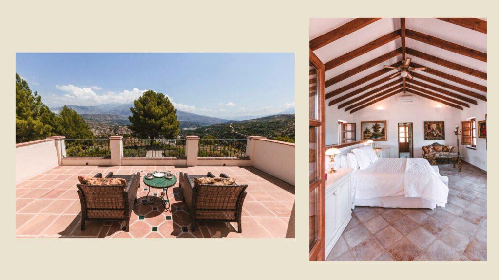 The master suite of La Esperanza Granada in Spain