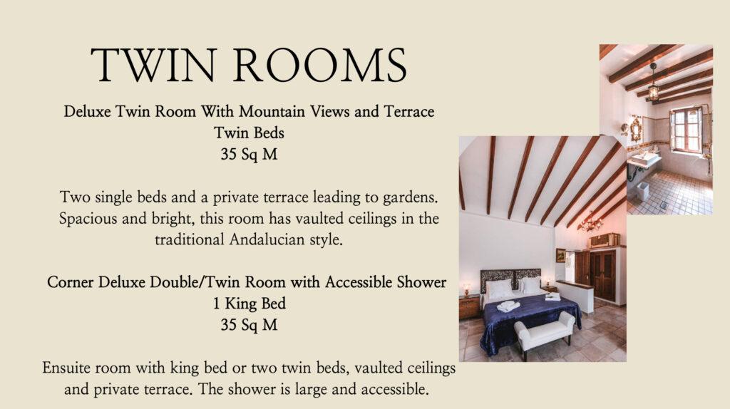 Twin rooms of La Esperanza Granada